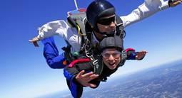 Saut en Parachute près de Biscarrosse dans les Landes