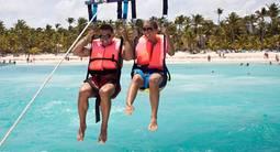 Séance de parachute Ascensionnel et paddle à Cagnes sur Mer