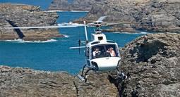 Baptême en hélicoptère - Vol au dessus du Golfe Morbihan et de Belle-Île
