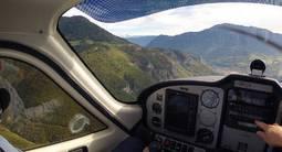 Initiation au pilotage d'avion à Annecy et vue sur le lac d'Annecy