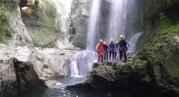 Canyoning dans le Jura près de Lons-le-Saunier