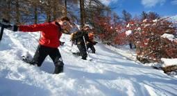 Randonnée en raquettes dans le Parc des Ecrins près de Briançon