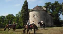 Balade à cheval  dans le Gers à Cravencères près de Mont-de-Marsan