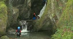 Canyoning près de Luchon dans le Midi Pyrenées