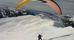 Baptême en Parapente à ski à Orcières Merlette