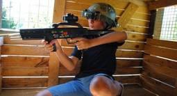 Laser game en équipe à l'extérieur à Nimes