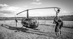 Baptême et Vol en hélicoptère au dessus Avignon