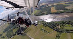Vol en ULM pendulaire près d'Orléans