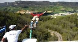 Saut à l'élastique filmé par caméra embarquée près de Montpellier