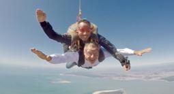 Saut en parachute près de Royan - plage de Soulac-sur-Mer