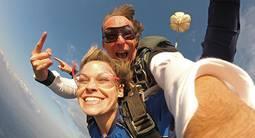 Saut en parachute au Tréport