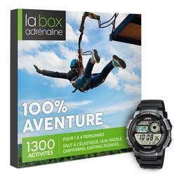 Coffret cadeau La Box Adrénaline 100% Aventure et montre Casio