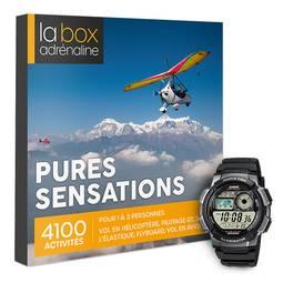 Coffret cadeau La Box Adrénaline Pures sensations et montre Casio